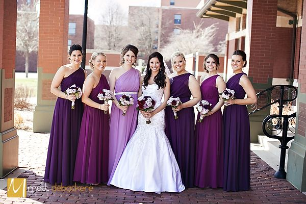 Purple Ombre Bridesmaids Matt DeBackere Photography » Springfield, IL Wedding Photographer