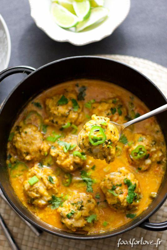 Curry de Légumes aux Boulettes de Poisson