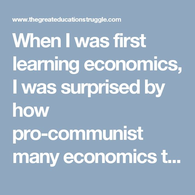 """When I was first learning economics, I was surprised by how pro-communist many economics textbooks were. I don't mean, of course, that any economics textbook ever said, """"Communism is good."""" What I mean, rather, is that textbooks were very positiverelative to communism's historical record. Indeed, many seemed deeply ignorant of actual communism, basing their assessment […]"""