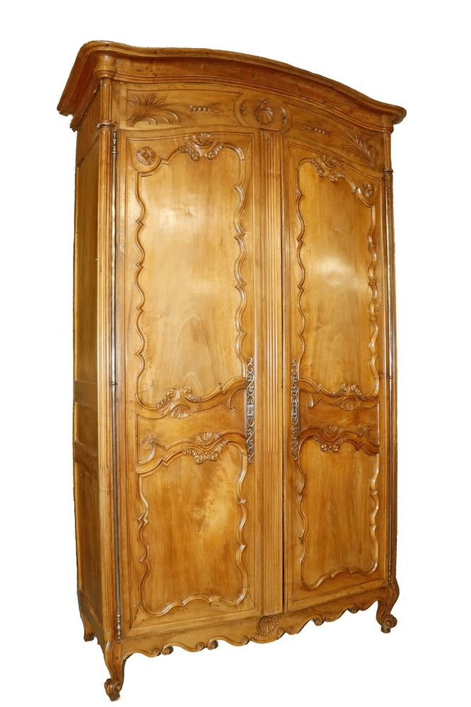 French Provincial Armoire Large Country French Louis Xvi