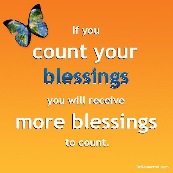 The Value of Gratitude.  Dr John Demartini  www.DrDemartini.com www.facebook.com/drjohndemartini