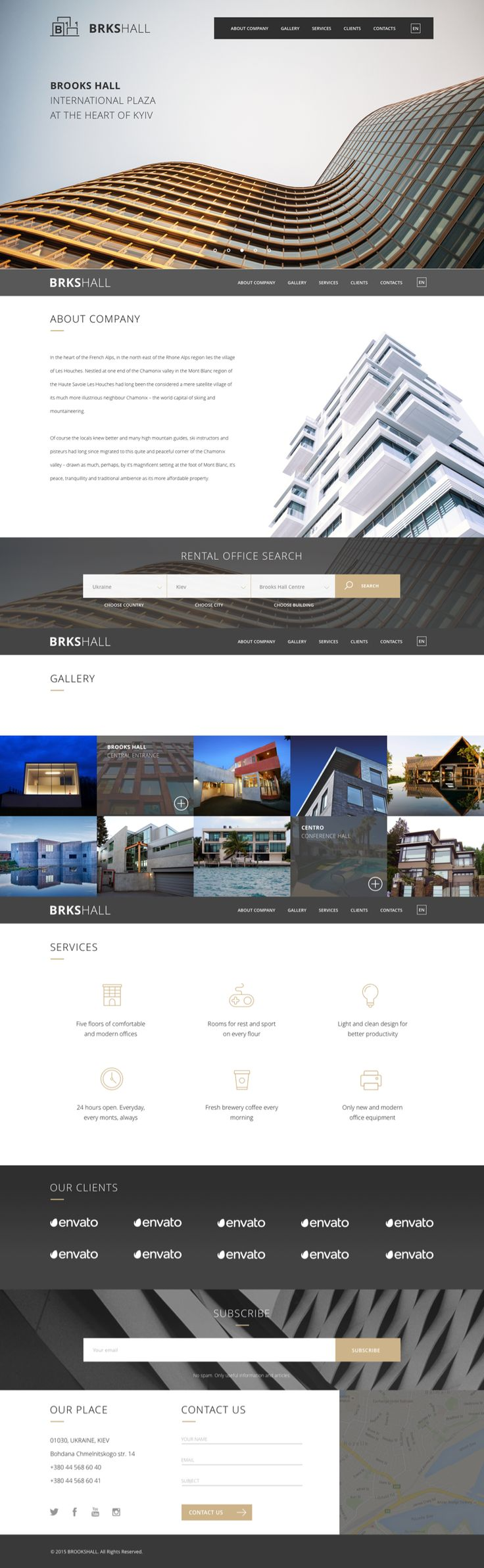 BrooksHall is a Real estate theme. It is specially designed for realtors, property management services company, commercial space, retail and office center, business center and others. It has advanced properties search functionality. Brooks WP maintain multiple location fields to provide search behavior from Country to Building type. Brooks theme supports up to 3 location dropdowns. In the theme options it is possible to change the descriptions of these dropdowns like numbers or labels.