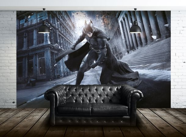 1000 images about batman on pinterest cars dc comics for Batman mural wallpaper uk