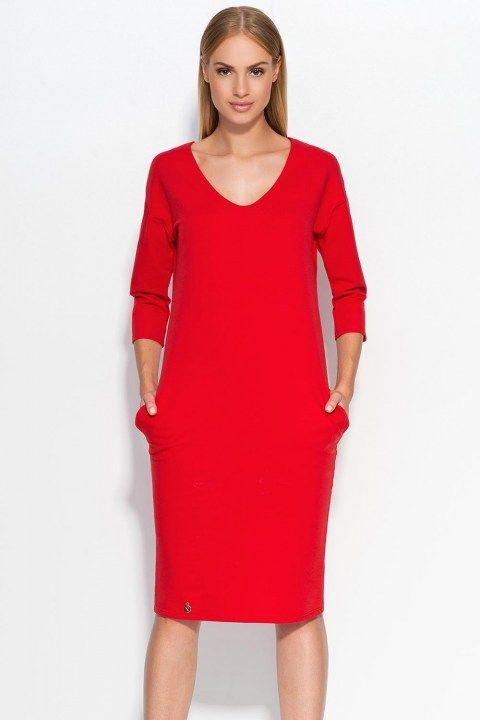 85e1e98f5439f1 Czerwona sukienka typu tulipan | lubiane | Sukienka, Sukienki i Odzież