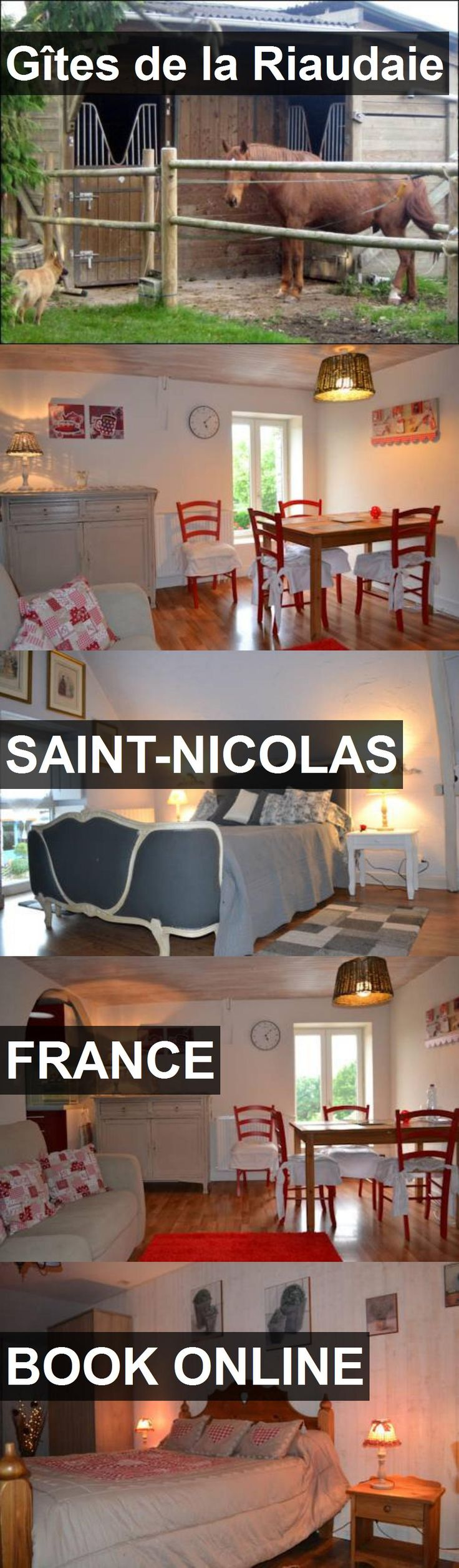 Hotel Gîtes de la Riaudaie in Saint-Nicolas, France. For more information, photos, reviews and best prices please follow the link. #France #Saint-Nicolas #travel #vacation #hotel