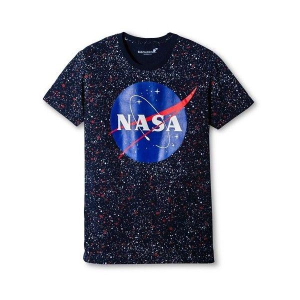 Men's NASA® Splatter T-Shirt - Navy : Target ($13) ❤ liked on Polyvore featuring men's fashion, men's clothing, men's shirts, men's t-shirts, old navy mens shirts, mens navy blue t shirt, mens shirts, mens t shirts and mens navy blue shirt