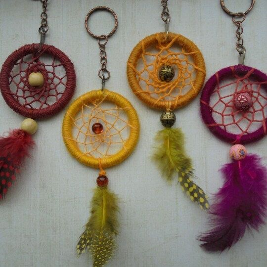 Some more dreamcatcher keyrings I have made this morning. Ready to be shipped off.