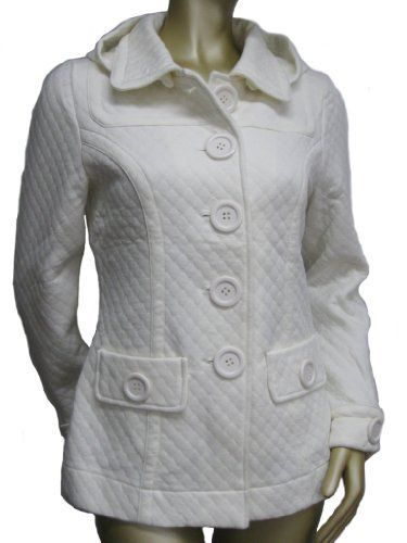 Sugarfly Womens/Juniors Quilted Knit Hooded Button Up Coat Jacket- Cream Sugarfly. $39.95. Collar and Buttoned Cuffs. Single-breasted. 2 Front Pockets. Soft Knit Jacket. Removable Hood