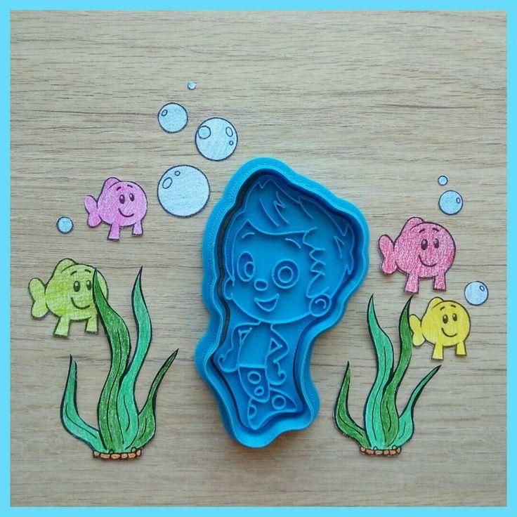 """""""Гил"""" из мультика """"Bubble Guppies"""" или """"Гуппи и Пузырики"""" на канале Nickelodeon. Такой заказ из 8 персонажей  поступил ко мне из Вьетнама. А смотрят ли наши дети такой мультик?😀 Кто в теме, напишите, буду признателен👌"""