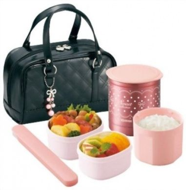 Zojirushi Thermal Lunch Box BENTO BAKO | SZ-GA02-BA Black (Japan Import)