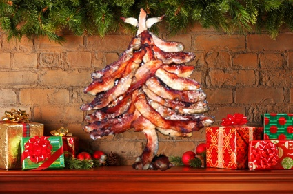 41 best 39 fun bbq holiday christmas images on pinterest for Bacon christmas tree decoration