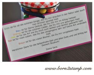 Abschiesgeschenk für Kindergarten Erzieherin. Smarties. Coole Idee!