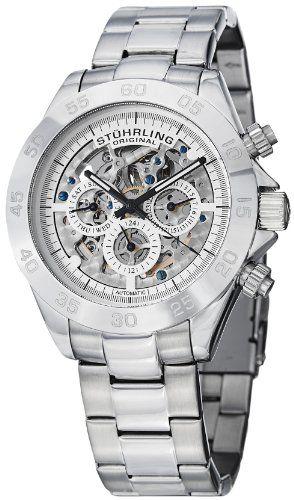 Stuhrling Original Men's 487.01 Symphony Elite Automatic Skeleton Multifunction Stainless Steel Watch - http://www.specialdaysgift.com/stuhrling-original-mens-487-01-symphony-elite-automatic-skeleton-multifunction-stainless-steel-watch/