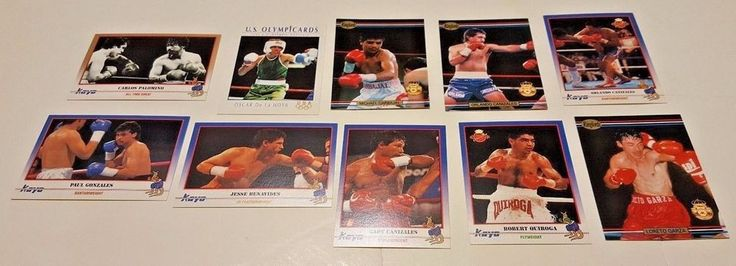 USA CHICANO BOXING CHAMPIONS Lot of 10 Different Cards 1991 KAYO RINGLORDS