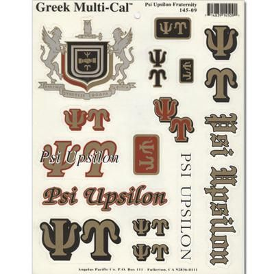 Psi Upsilon Multi-Cal Sticker