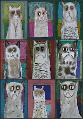 Josey's Art School is a Creativity School for kids : Do you Know Grumpy Cat?  Kids love Him!