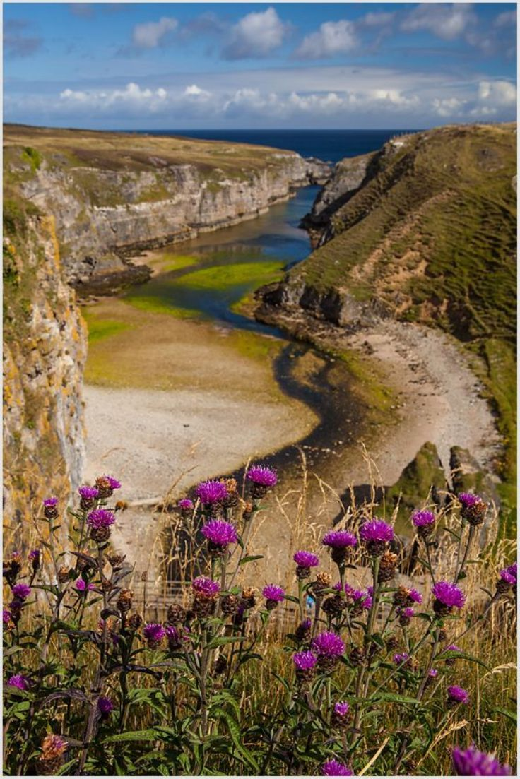 Bay of Smoo Cave Near Durness, Scotland