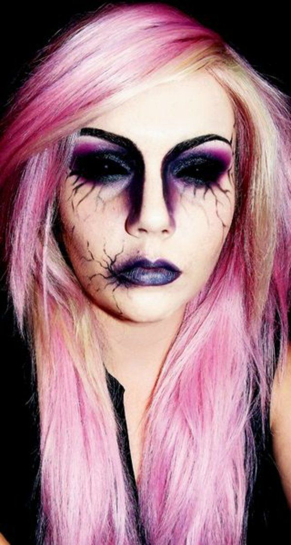 die besten 17 ideen zu horror make up auf pinterest zombie make up vampir kost m und zombie prom. Black Bedroom Furniture Sets. Home Design Ideas