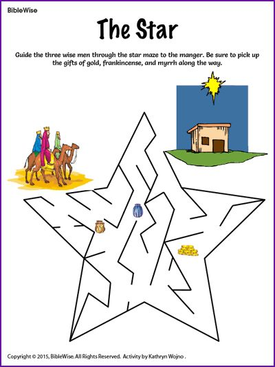The Star Maze (Wise Men) - Kids Korner - BibleWise