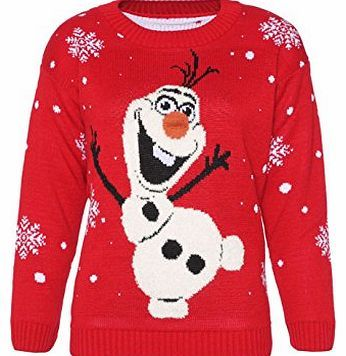 Simply Chic Outlet Girls Boys Snowman Olaf Knitted Christmas Jumper With 3D  Nose Sweatshirt Kids Cardigan