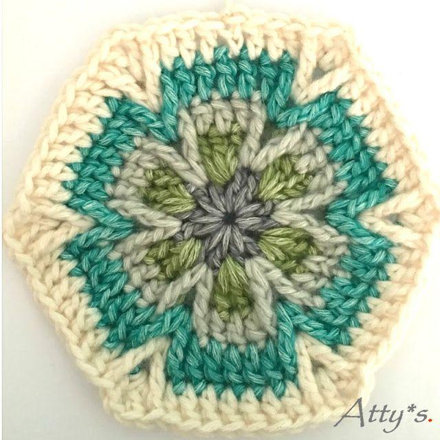 Mesmerize Hexagon #Crochet Motif Pattern