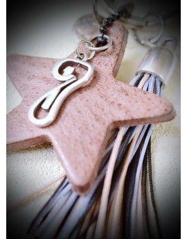 Μπρελόκ - Γούρι Leather Star & Tassel