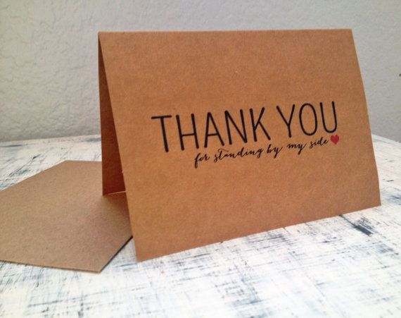 7 Bridesmaids thank you cards Set of 7 by TexasFarmersDaughter