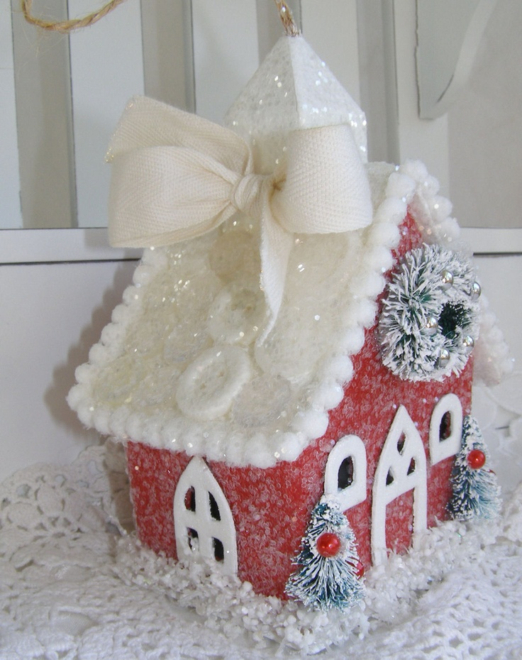Candy Cane House 3: Cold Outside, Putz House, Paper Bistros, Annette Paper, Glitter House, Gingerbread House, Candy Canes, Baby, Candy House