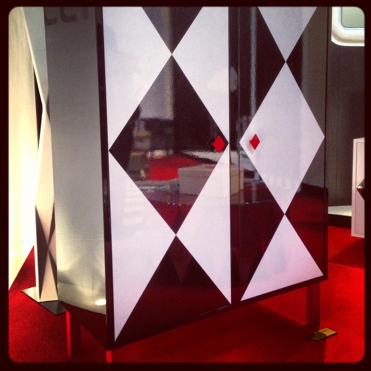 #camiciacorta cabinet, design by @Moschino for #altreforme @iSaloni 2013 #interior #home #decor #homedecor #furniture #aluminium #blackandwhite
