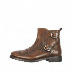 HELSTONS TRAIL Cuir Aniline Tan - Motorcycle shoes