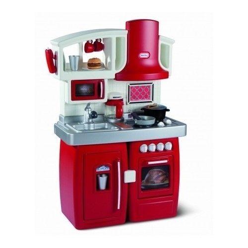Play Kitchen Set Prep Serve Pretend Preschool Cooking Child Kids Educational Toy #LittleTikes