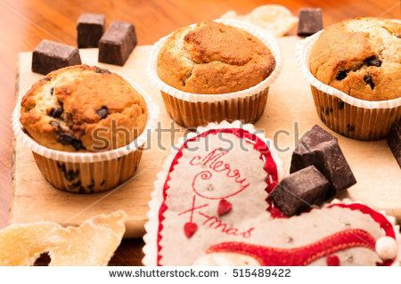 christmas homemade muffin