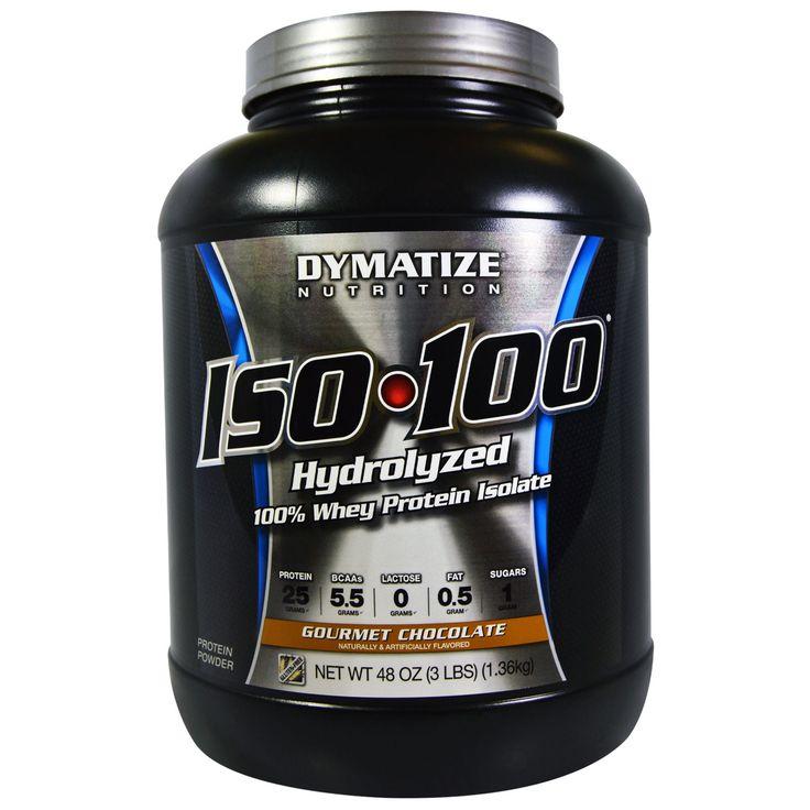 Dymatize Nutrition, ISO•100, Hydrolyzed, 100% Whey Protein Isolate Powder, Gourmet Chocolate, 48 oz (1,36 kg)