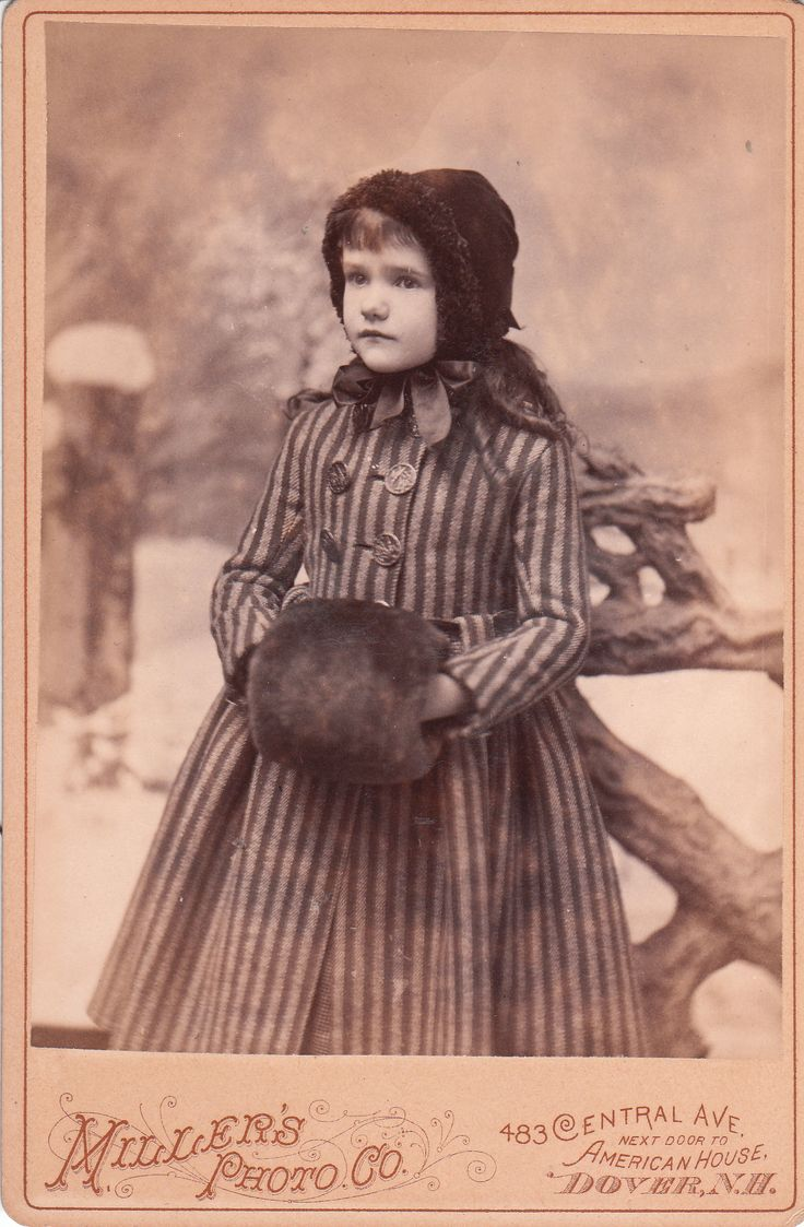 +~+~ Antique Photograph ~+~+   Girl all bundled up for winter.