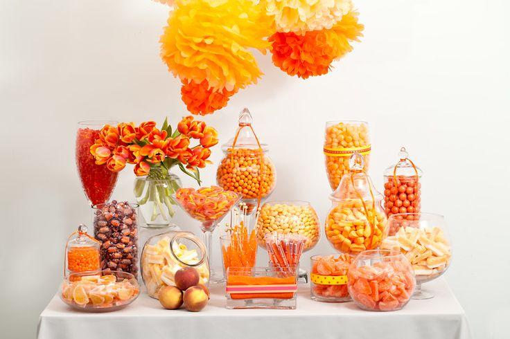 Orange Candy Buffet — Candy Buffets — Wedding Candy — Nuts.com