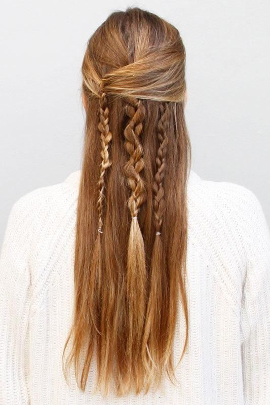 Boho Braid: How to Create an Effortlessly Chic Half Updo. Cannot wait for my hair to be long enough to do this