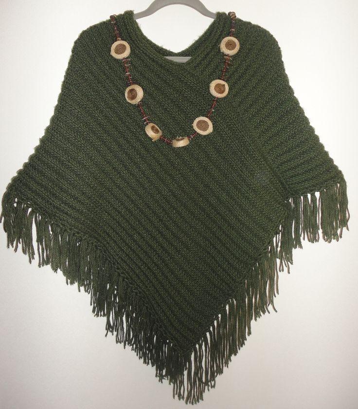 Poncho tricot Talla única $10.000