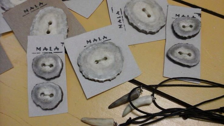Moose antler buttons & necklaces,  locally handmade with naturally shed antlers