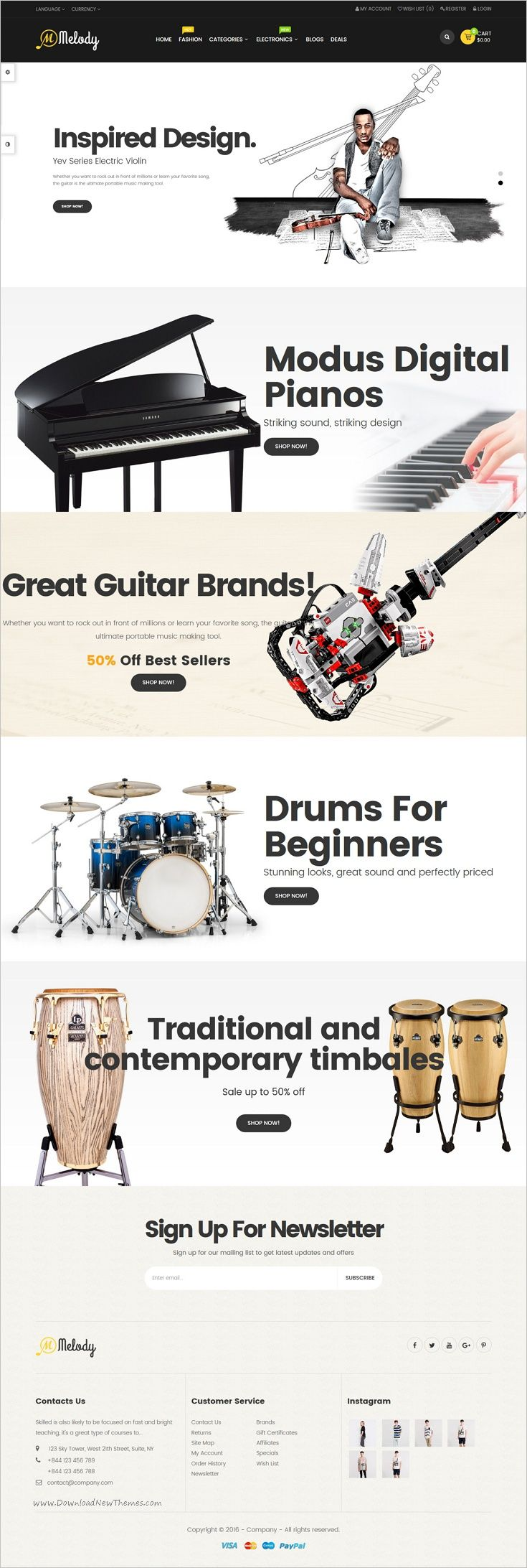 Pav Melody is a creative and powerful 4in1 #Opencart theme for #musical #instruments online shop #eCommerce website download now➩ https://themeforest.net/item/pav-melody-best-musical-instruments-opencart-theme/18851193?ref=Datasata