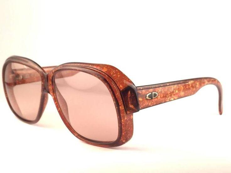 Vintage Christian Dior Monsieur 2039 10 Optyl Marbled 1970s Sunglasses