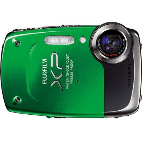 Fuji FinePix XP20 14.2 MP Water/Shock/Freeze/Dust Proof Digital Camera - Green - Refurbished  | Cameras and Camcorders | Visions Electronics
