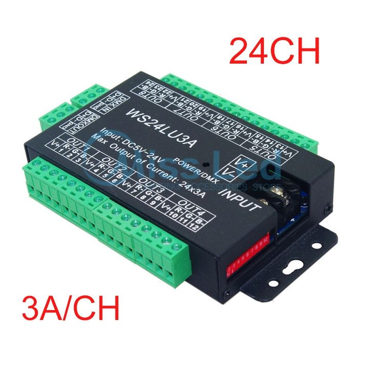 44.10$  Buy here - http://alikea.shopchina.info/1/go.php?t=2032517253 - Express 24CH Easy dmx512 decoder,LED dimmer Controller,DC5V-24V,each channel Max 3A,8 groups RGB controller,Iron shell 44.10$ #buyonlinewebsite