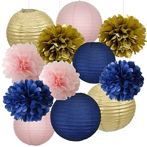 12pcs Mixed Navy Blue Pink Gold Party Tissue Pom Poms Han... https://smile.amazon.com/dp/B01NCQ3MD4/ref=cm_sw_r_pi_dp_x_VV5-ybQBXJB04