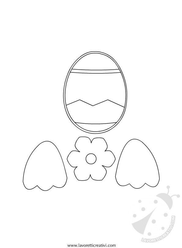 ADDOBBI DI PASQUA CON LA CARTA Sagome utili per realizzare una gallina con l'uovo da attaccare alle porte o ai vetri delle finestre di scuola nel periodo d