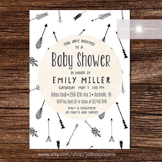 Baby Shower Invitation Gender Neutral Invite Baby by JadorePaperie