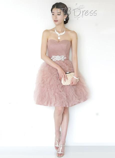 Graceful A-Line Sweetheart Crystal Short Homecoming Dress