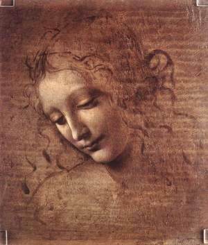 Reproduction oil paintings - Leonardo Da Vinci - Female head (The Lady of the Dishevelled Hair) (or La Scapigliata)