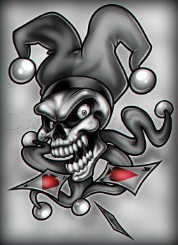 Joker Skull...dragoart.com