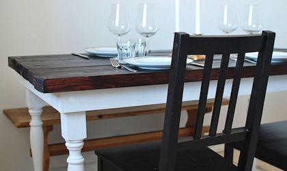 Bygga ett rustikt köksbord - Gör det själv! - BYGGmax
