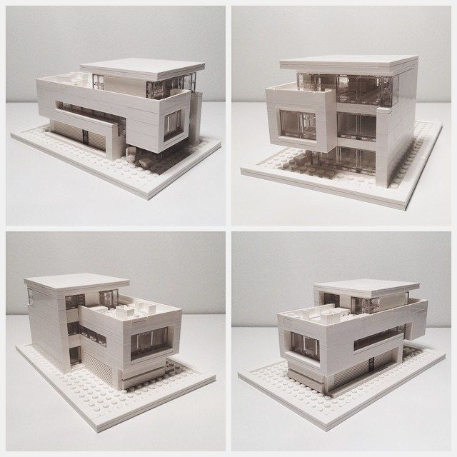 It took a bit of trial and error, but here it is, my first Lego Architecture…